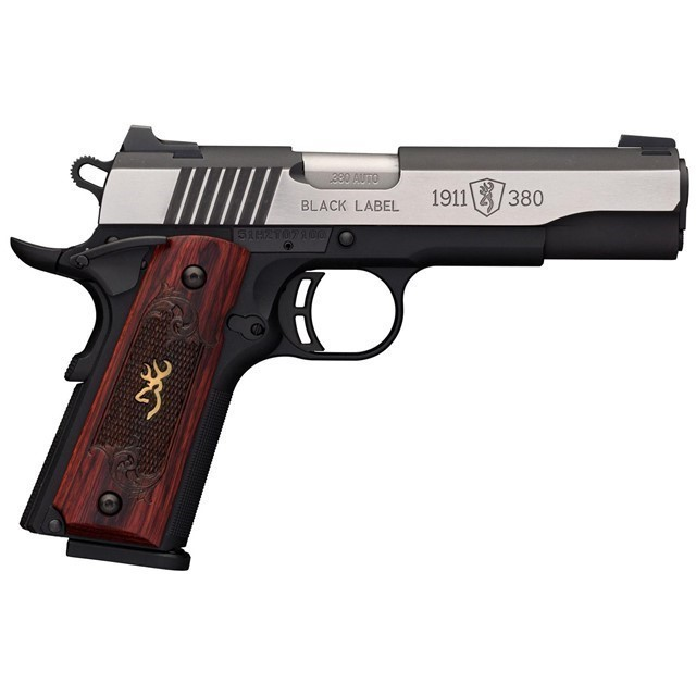 "BROWNING BLACK 1911 .380ACP 4.25"" 8RD, 051912492-img-0"