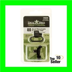 """Uncle Mikes 14050 Rifle Swivels Picatinny Attachments 1"""" Black"""