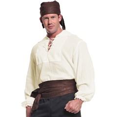 Pirate Shirt Cream Adult Xl
