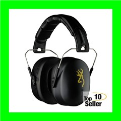 Browning 12699 HDR Hearing Protector Foam 37dB Over the Head Black Ear