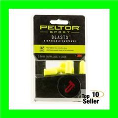Peltor 97080 Blasts Ear Plugs Foam 32dB Yellow 3 Pair