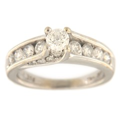 Women's Solitaire ring 14kt White Gold