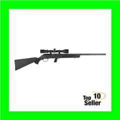"Savage 45100 64 FVXP with Scope 22 LR 10+1 20.50"" Black Matte Blued..."