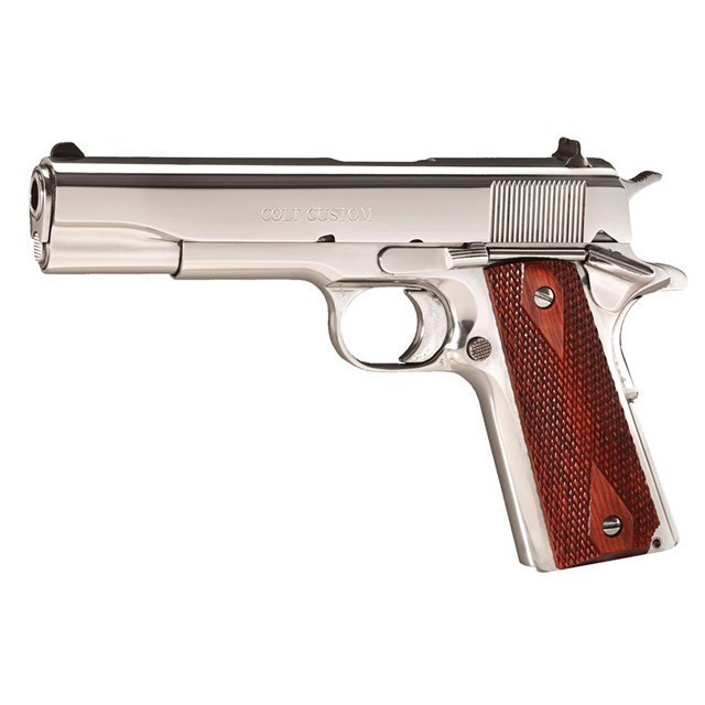 COLT CUSTOM 1911 BRIGHT STAINLESS .38 SUPER POLISH-img-0