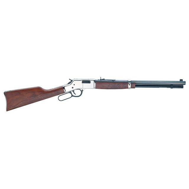 "HENRY BIG BOY SILVER 20"" 45 LONG COLT 10RD NICKEL-img-0"