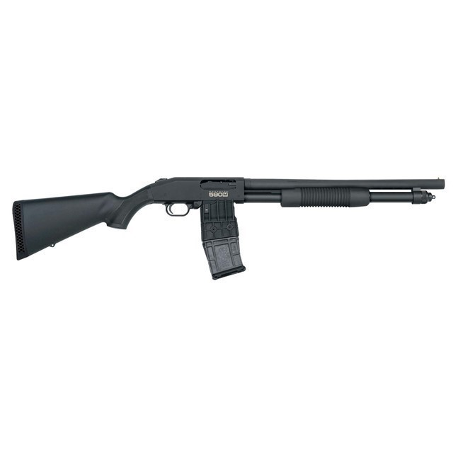MOSSBERG 590M 12GA 18.5IN 10RD PUMP-ACTION-img-0