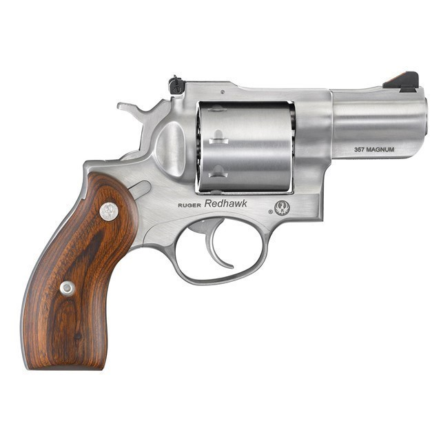 """RUGER REDHAWK 357 MAG 2.75"""" SS WOOD GRIPS 8RD-img-0"""