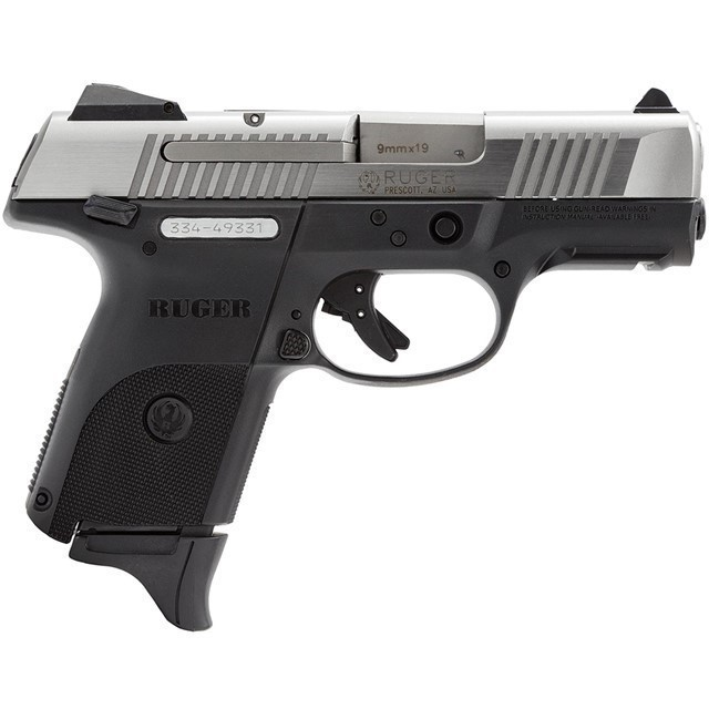RUGER SR9C COMPACT 9MM BLACK/STAINLESS, 3313-img-0