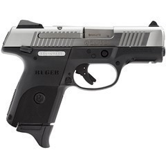RUGER SR9C COMPACT 9MM BLACK/STAINLESS, 3313