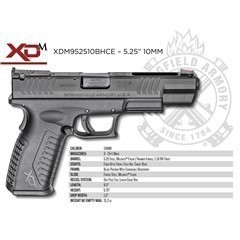 "SPRINGFIELD XDM 10MM 5.25"" BLACK"