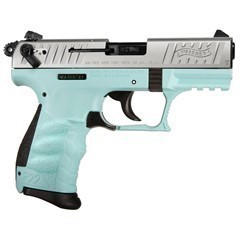 "WALTHER P22Q .22LR 3.4"" ANGEL BLUE POLYMER 10-ROUN"