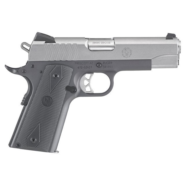 RUGER SR1911 COMMANDER PISTOL 9MM, 4.25, 6722-img-0