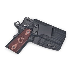 "1911 3.5"" Officer Model (Non-Rail) IWB KYDEX Holster Carbon Fiber Black / R"
