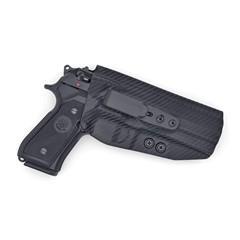 Beretta 92 Compact Tuckable IWB KYDEX Holster Carbon Fiber Black / Right Ha