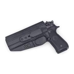 Beretta 92 Compact Tuckable IWB KYDEX Holster Carbon Fiber Black / Left Han