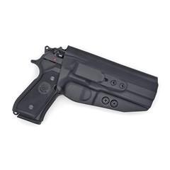 Beretta 92 Compact Tuckable IWB KYDEX Holster Black / Right Hand (w/Full Sw