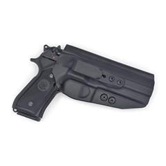 Beretta 92 Compact Tuckable IWB KYDEX Holster Black / Ambidextrous (No Swea