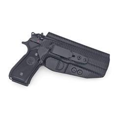 Beretta 92 Compact Tuckable IWB KYDEX Holster Carbon Fiber Black / Ambidext