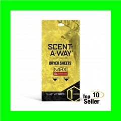 Hunters Specialties 07707 Scent-A-Way Max Dryer Sheets Odorless 15 Pack