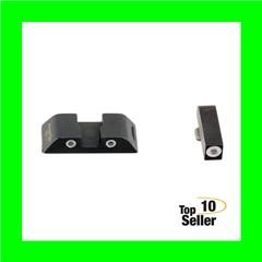 AmeriGlo GL119 Classic 3 Dot Night Sight Fits Glock 20/21 Tritium Green...