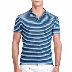 Polo Ralph Lauren Men's Custom Fit Striped Cotton Polo-size M