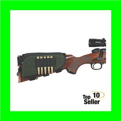 Allen 20550 Buttstock Shell Holder With Pouch 5 Rounds Green/Black...