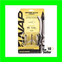 Walkers NAP-60-698 Spitfire Maxx Crossbow 100 grain Broadhead 3 Pack