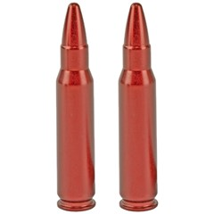 A-Zoom 38 Special Aluminum Snap Caps - 6Pk - Red
