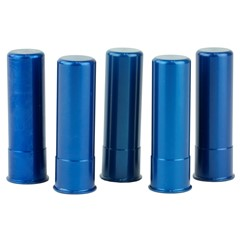 A-Zoom Aluminum Snap Caps - 5Pk - Blue