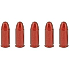 A-Zoom 32 ACP Aluminum Snap Caps - 5Pk - Red