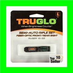 Truglo TG111W Rimfire Rifle Fiber Optic Set Ruger 10/22 Fiber Optic Red...