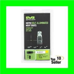 MEPRO USA LLC ML40224Y HVS Fixed Set fits Glock 9, 40 Green w/Yellow...