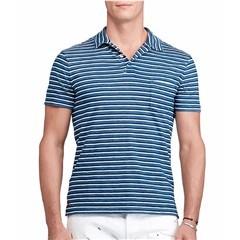 Polo Ralph Lauren Men's Custom Fit Striped Cotton Polo - size XXL