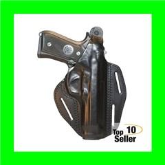 Blackhawk 420005BNR Pancake 3-Slot Glock 26/27 Leather Brown
