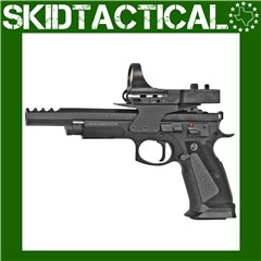 """CZ 75 Single Action Only 5.23"""" 9mm 20rd Fixed Sights - Black"""
