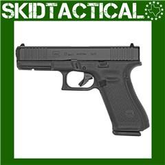 "Glock 17 Gen 5 Striker Fired 4.49"" 9mm 17rd Fixed Sights - Black"