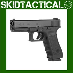 """Glock 17 Safe Action 4.49"""" 9mm 17rd Fixed Sights - Black"""