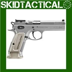 """SAR USA K12 Sport 4.7"""" 9mm 17rd Adjustable Rear Sight - Silver"""