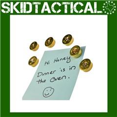 2 Monkey Trading 12 Gauge Magnet - 5/Pack - Brass