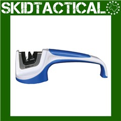 AccuSharp Pull-Through Plastic Knife Sharpener - Blue, White