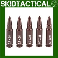 A-Zoom 5.7X28mm Aluminum Snap Caps - 5/Pk - Red
