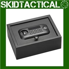 "Bulldog Cases Pistol Vault Safe 12""X9""X4"" - Black"