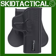 Bulldog Cases Glock 19/23 Rapid Release Right Hand Polymer Hip Holster - Bl