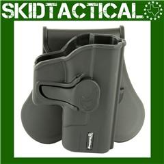 Bulldog Cases Glock 43 Rapid Release Right Hand Polymer Hip Holster - Black