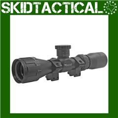 "BSA Optics Sweet 22 30/30 Duplex Reticle 2-7X Rimfire Scope 1"" - Black"