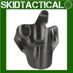 """DeSantis S&W K Frame 4"""" 001 Thumb Break Scabbard Right Hand Leather Belt Ho"""
