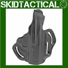 DeSantis APX 1 TB Scabbard Right Hand Leather Belt Holster - Black