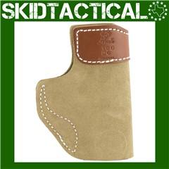 DeSantis Glock 43/Kahr PM9 106 Sof-Tuck Left Hand Leather Inside Waistband