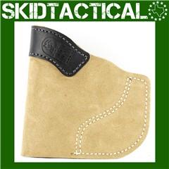 DeSantis Ruger LCR 111 Pocket-Tuk Right Hand Leather Pocket Holster - Natur