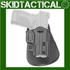 Fobus Springfield XDS Evolution Right Hand Polymer Paddle Holster - Black